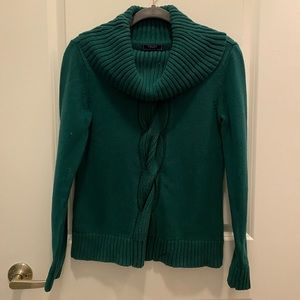 Teal Green Cowl Neck Sweater